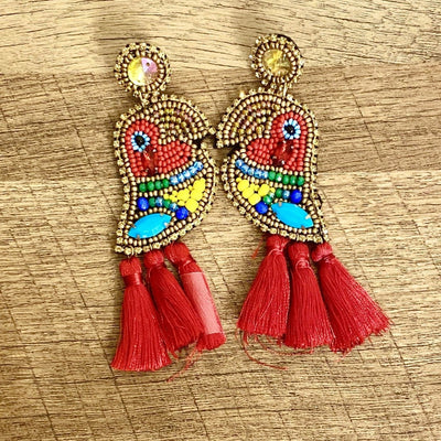 Femi Parrot Earrings - Goddess House of Glam Boutique