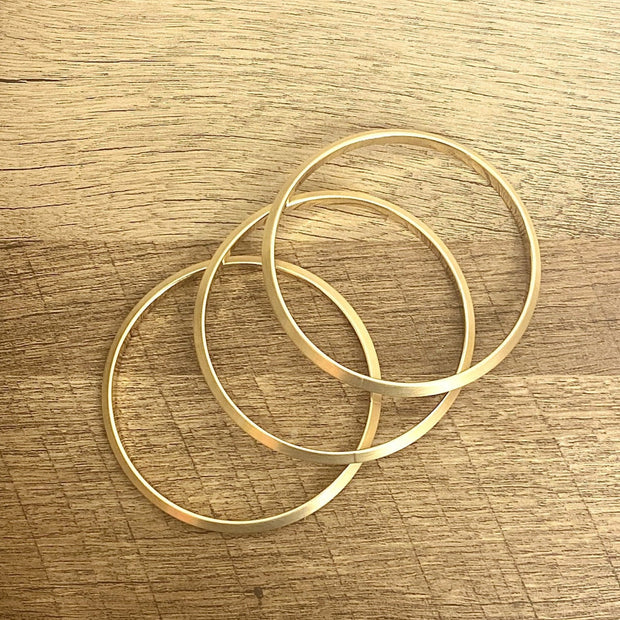 Issa Gold 3 Piece Stackable Bracelets - Goddess House of Glam Boutique