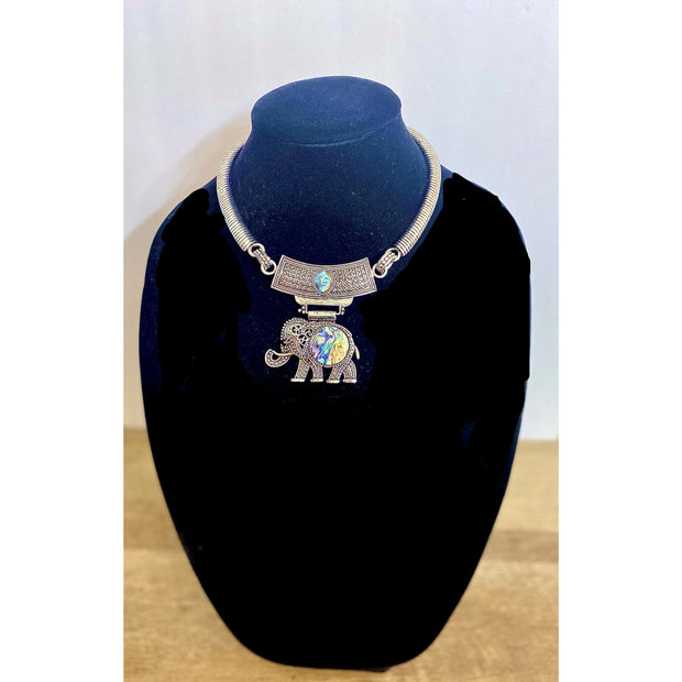 Loyalty Goddess Elephant Necklace Set