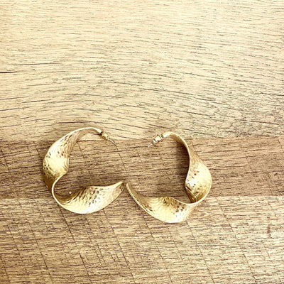 Uma Gold Hoop Earrings - Goddess House of Glam Boutique
