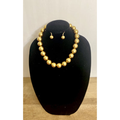 Zoya Gold Beaded Necklace Set - Goddess House of Glam Boutique
