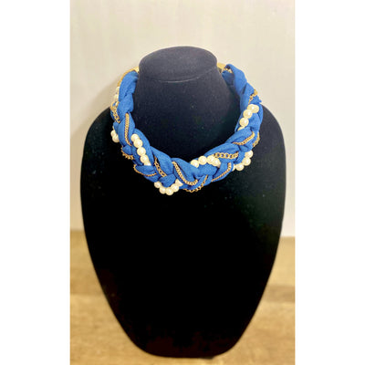 Gabby Denim Braided Collar Necklace