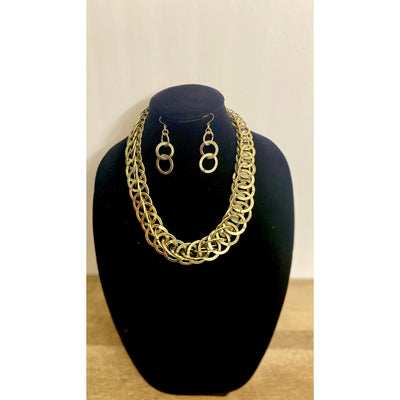 Sachi Rustic Gold Ringlet Necklace Set - Goddess House of Glam Boutique