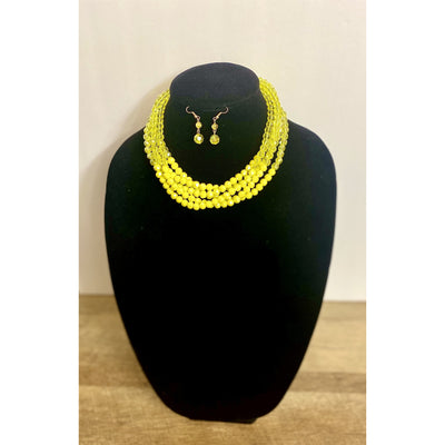 Shani Canary Yellow Beaded Necklace - Goddess House of Glam Boutique