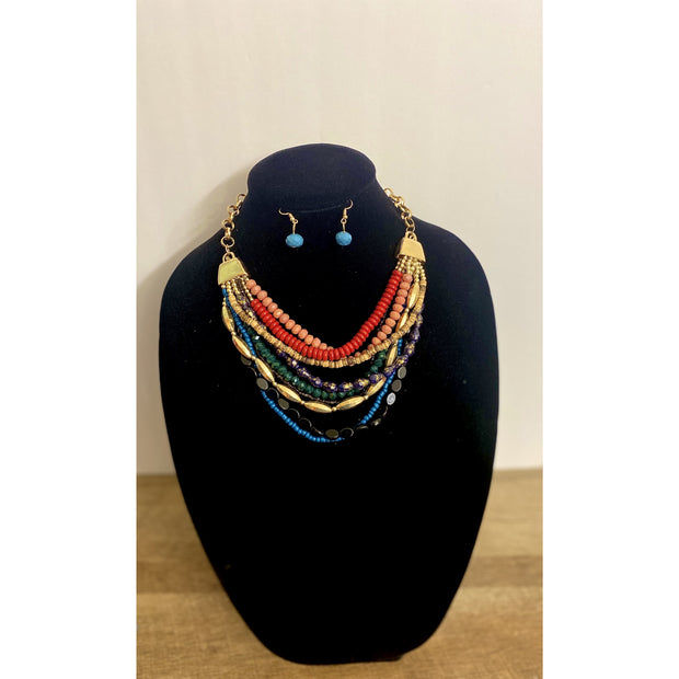 Kanani Multiple Colored Layered Necklace Set - Goddess House of Glam Boutique