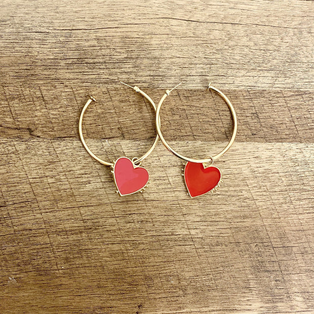 Heart Me Hoop Earrings