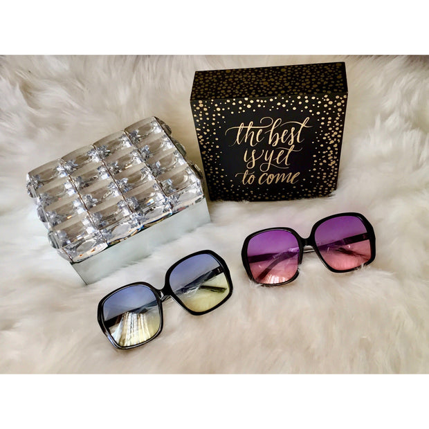 Oversized Square Two Tone Sunglasses