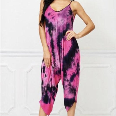 Goddess Tie-Dye One-Piece Capri Spandex - Goddess House of Glam Boutique