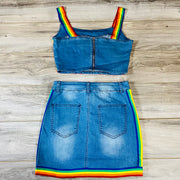 Joie Denim Multicolored Set - Goddess House of Glam Boutique