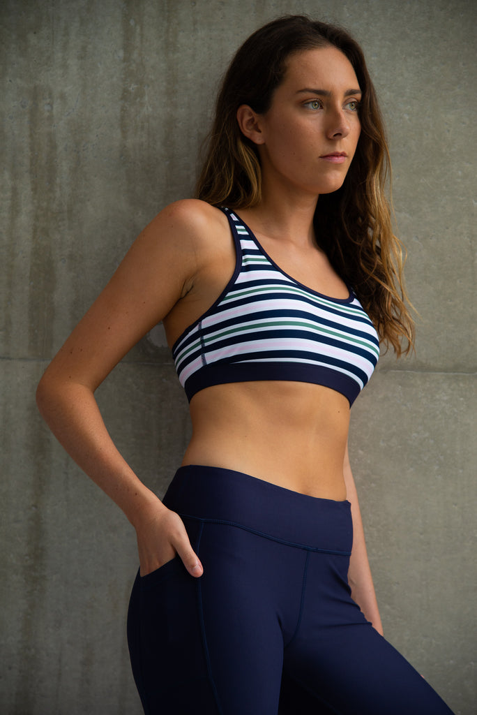Racer Back Crop Stripe