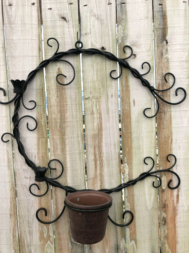 Metal Hanging Wreath