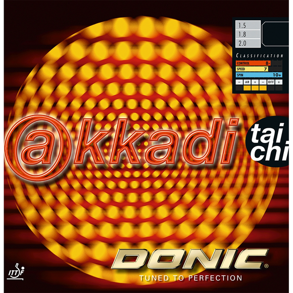 Donic Akkadi Taichi Table Tennis & Ping Pong Rubber, Choose Color and Thickness