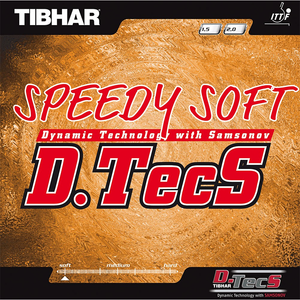 Tibhar Speedy Soft D.Tecs Table Tennis & Ping Pong Rubber, Pick Color & Thickness