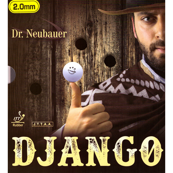 Dr.Neubauer Django Table Tennis & Ping Pong Rubber, Choose Your Color & Thickness
