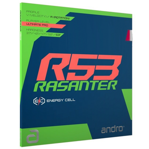 Andro Rasanter R53 Table Tennis & Ping Pong Rubber, Choose Your Color & Thickness