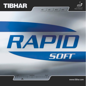 Tibhar Rapid Soft Table Tennis & Ping Pong Rubber, Choose Your Color & Thickness