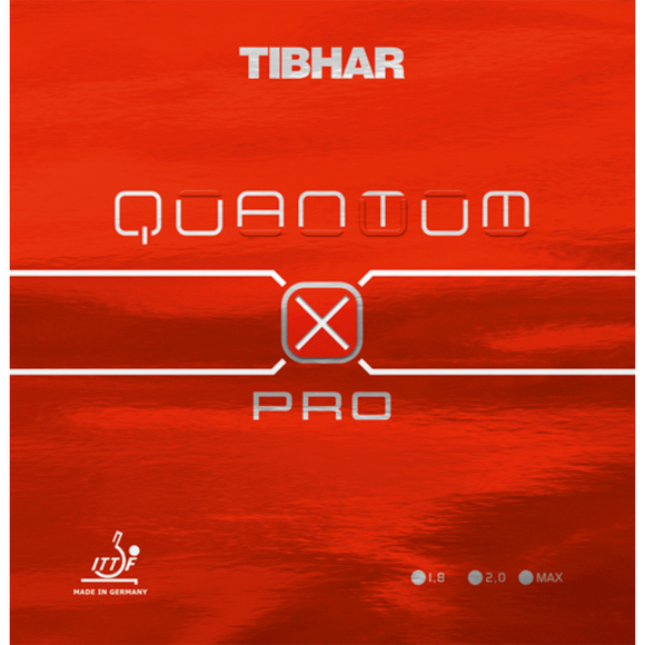 Tibhar Quantum X PRO Table Tennis & Ping Pong Rubber, Choose Color and Thickness