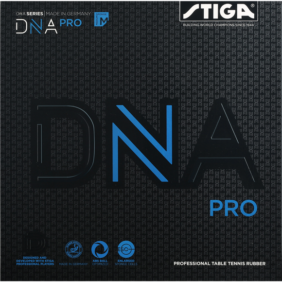 Stiga DNA PRO M Table Tennis & Ping Pong Rubber, Choose Your Color and Thickness