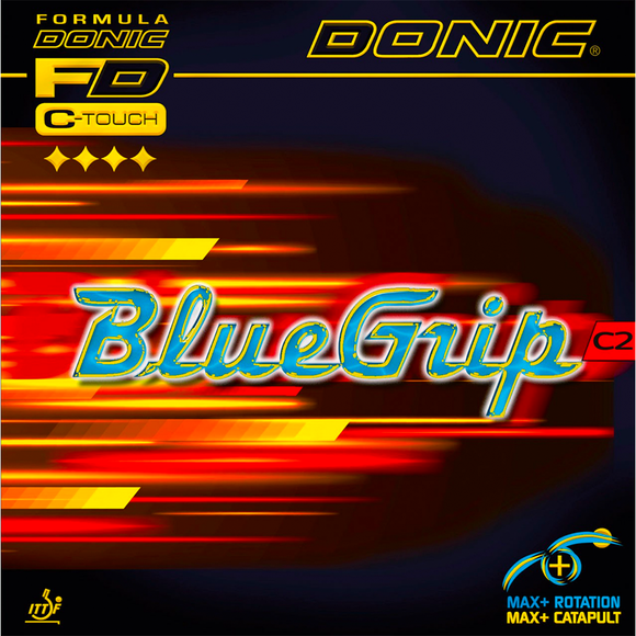 Donic BlueGrip C2 Table Tennis and Ping Pong Rubber, Choose Color and Thickness