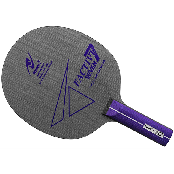 Nittaku Factive 7 Table Tennis and Ping Pong Penhold Blade, Choose Handle Type