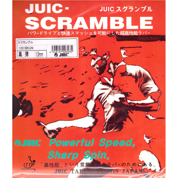 Juic Scramble Table Tennis and Ping Pong Rubber, Choose Your Color and Thickness