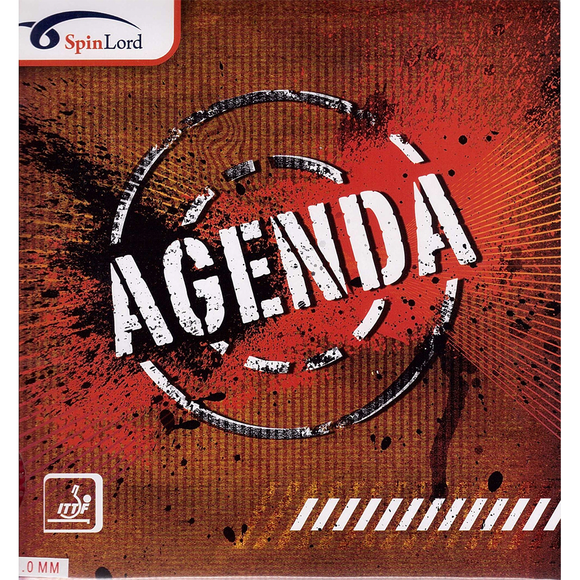 Spinlord Agenda Table Tennis & Ping Pong Rubber - 1.0 Red