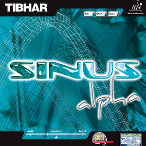 Tibhar Sinus Alpha Table Tennis & Ping Pong Rubber, Choose Color and Thickness