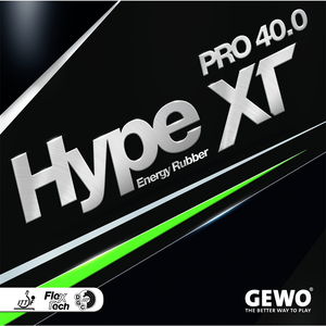 Gewo Hype XT Pro 40.0 Table Tennis & Ping Pong Rubber, Choose Color & Thickness