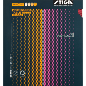 Stiga Vertical 20 Table Tennis and Ping Pong Rubber, Choose Color & Thickness