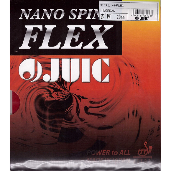 Juic Nano Spin Flex Table Tennis & Ping Pong Rubber, Choose Color and Thickness