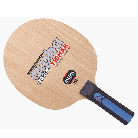 Tibhar Samsonov Alpha SGS Table Tennis & Ping Pong Blade, Choose Ur Handle Type