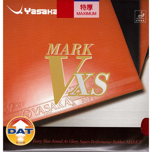 Yasaka Mark V XS Table Tennis & Ping Pong Rubber, Choose Your Color & Thickness