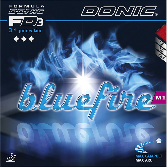 Donic Bluefire M1 Table Tennis & Ping Pong Rubber, Choose Your Color & Thickness