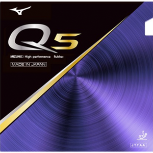 Mizuno Q5 Table Tennis and Ping Pong Rubber, Choose Your Color and Thickness