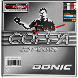 Donic Coppa JO Platin Table Tennis & Ping Pong Rubber, Choose Color & Thickness