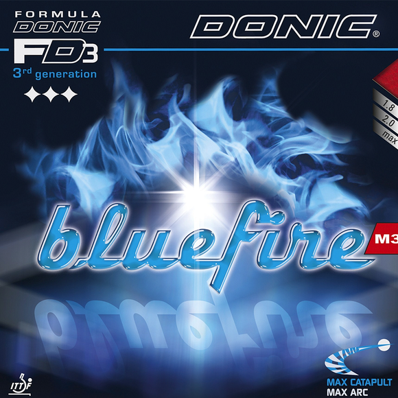 Donic Bluefire M3 Table Tennis & Ping Pong Rubber, Choose Your Color & Thickness