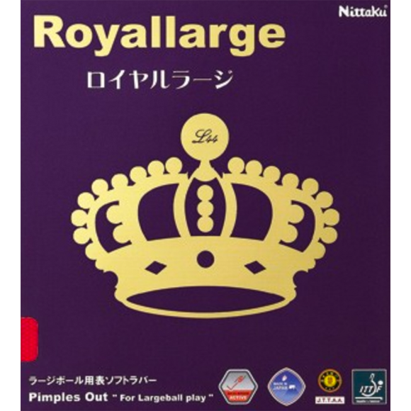 Nittaku Royal Large Table Tennis & Ping Pong Rubber, Pick Your Color & Thickness