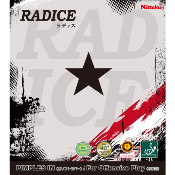 Nittaku Radice Table Tennis & Ping Pong Rubber, Choose Your Color and Thickness