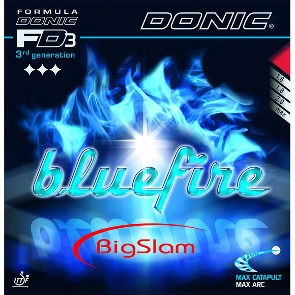Donic Bluefire Big Slam Table Tennis & Ping Pong Rubber, Pick Color & Thickness