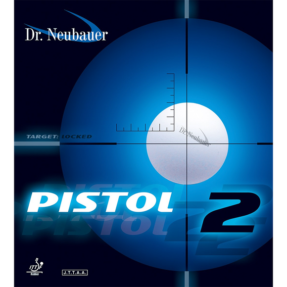 Dr.Neubauer Pistol 2 Table Tennis & Ping Pong Rubber, Choose Color & Thickness