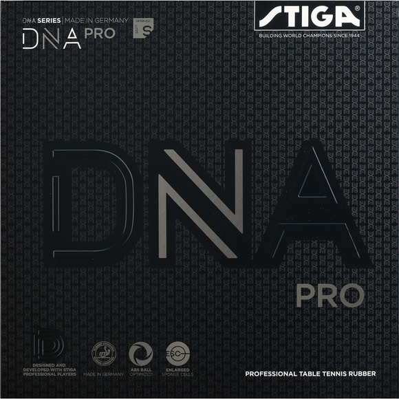 Stiga DNA PRO S Table Tennis and Ping Pong Rubber, Choose Your Color & Thickness