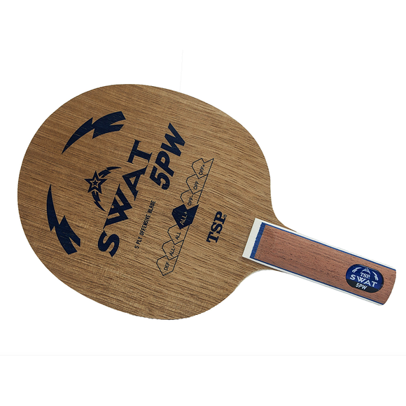 TSP Swat 5 Pw Table Tennis & Ping Pong Blade, Authentic, Choose Handle Type