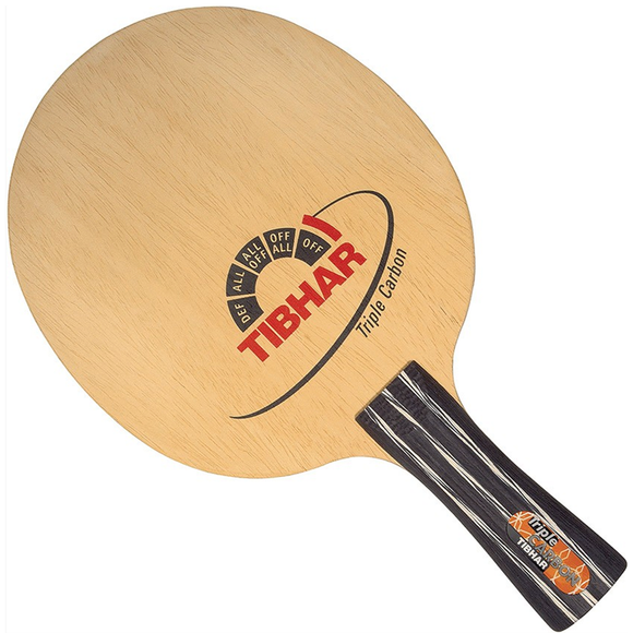 Tibhar Triple Carbon Table Tennis & Ping Pong Blade, Authentic, Pick Handle Type