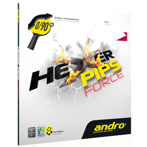 Andro Hexer Pips Force Table Tennis & Ping Pong Rubber, Choose Color & Thickness