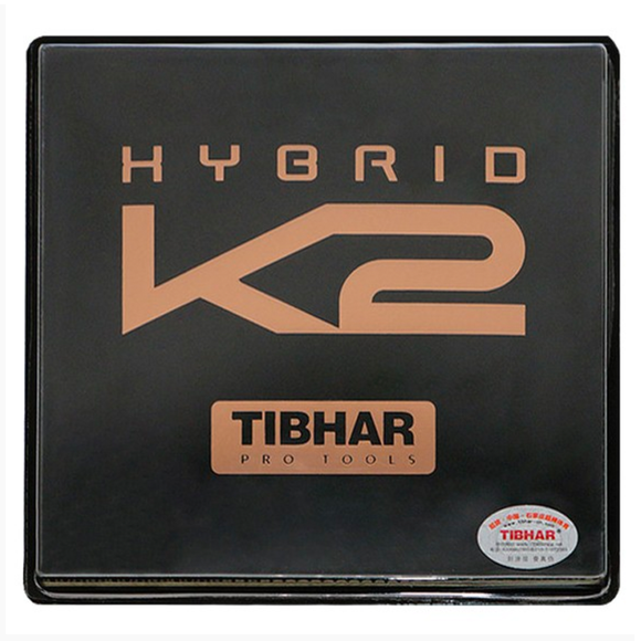 Tibhar Hybrid K2 Table Tennis & Ping Pong Rubber, Choose Your Color & Thickness
