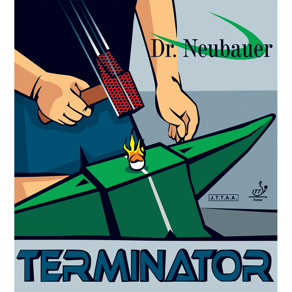 Dr.Neubauer Terminator Table Tennis & Ping Pong Rubber, Choose Color & Thickness