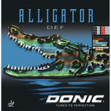 Donic Alligator Def Table Tennis & Ping Pong Rubber, Choose Color and Thickness
