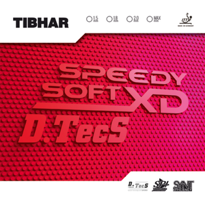 Tibhar Speedy Soft XD D.Tecs Table Tennis & Ping Pong Rubber, Choose Variation