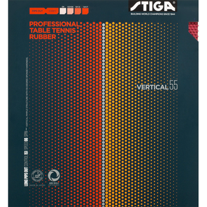 Stiga Vertical 55 Table Tennis & Ping Pong Rubber, Choose Your Color & Thickness