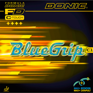 Donic BlueGrip C1 Table Tennis and Ping Pong Rubber, Choose Color and Thickness
